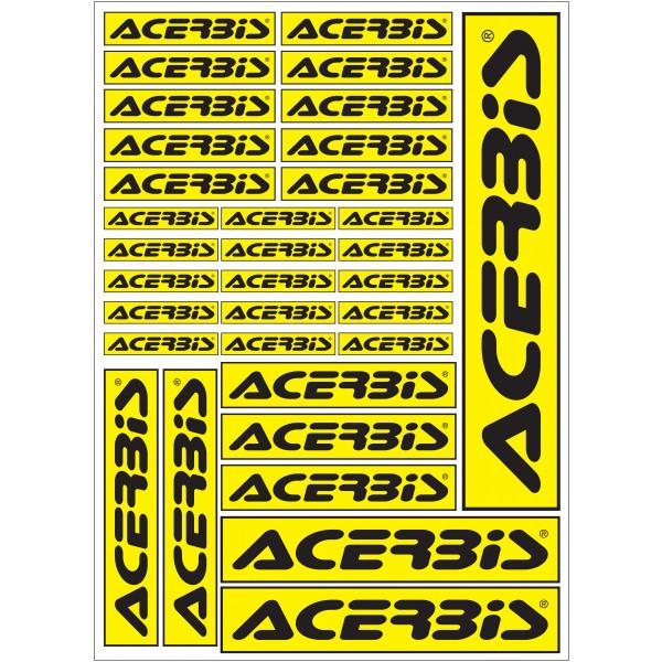 Acerbis Aufkleber Kit Decal Logo Sheet gelb-schwarz #1