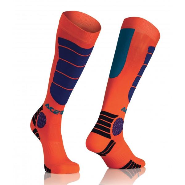 Acerbis Strumpf MX Impact Junior orange-fluo-blau #1