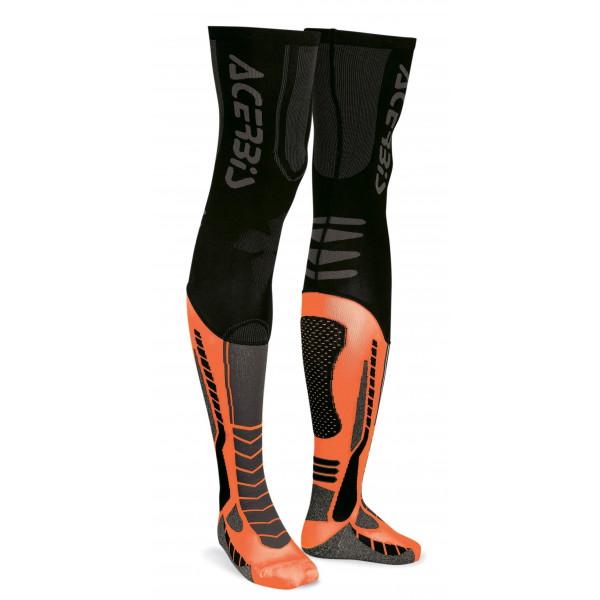 Acerbis Unterziehstrumpf X-Leg Pro schwarz-orange-fluo #1