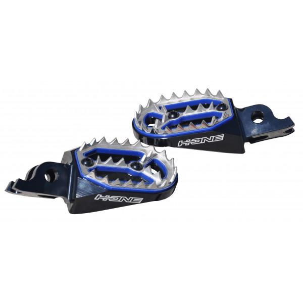 H-ONE Fußrasten Pro Honda schwarz-blau #1