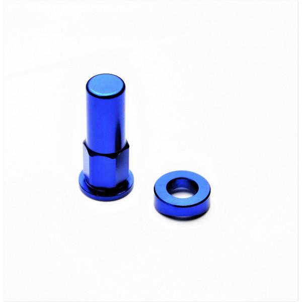 H-ONE Reifenhalter Schraube Alu blau #1