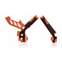 Acerbis Rahmenprotektor X-GRIP KTM orange98-schwarz