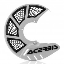 Acerbis Bremsscheiben Schutz X-BRAKE 2.0 Honda / Yamaha / Suzuki / Kawasaki / KTM / Husqvarna / Beta / Sherco weiß-schwarz