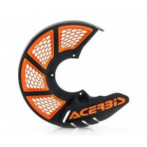 Acerbis Bremsscheibenschutz X-BRAKE vorne Honda / Yamaha / Suzuki / Kawasaki / KTM / Husqvarna / Beta / Sherco schwarz-orange