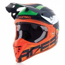 SALE% - Acerbis Helm Profile 3.0 Blackmamba blau-orange-fluo
