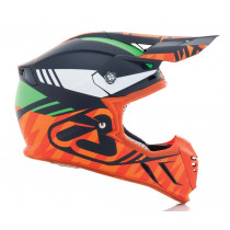 Acerbis Helm PROFILE 3.0 BLACKMAMBA blau-orange-fluo