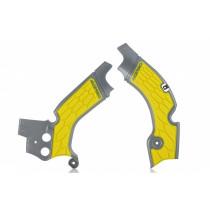 Acerbis Rahmenschutz X-GRIP Suzuki silber-gelb