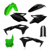 Acerbis Plastik Full Kit Kawasaki schwarz-grün / 6tlg.