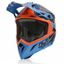 Acerbis Helm Carbon Steel orange-blau