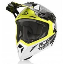 Acerbis Helm Carbon Steel weiß-gelb