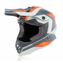 Acerbis Helm Steel Junior orange-grau