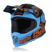Acerbis Helm Steel Junior blau-rot