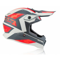 Acerbis Helm Steel Junior rot-grau
