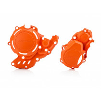 Acerbis Kupplungsdeckel & Zündungsdeckel Schutz X-Power KTM / Husqvarna orange16