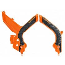 Acerbis Rahmenschutz X-GRIP KTM orange98-schwarz
