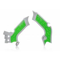 Acerbis Rahmenschutz X-Grip Kawasaki silber-grün