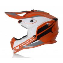 Acerbis Helm Linear orange-weiß