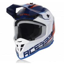 Acerbis Helm Linear blau-weiß