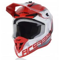Acerbis Helm Linear rot-weiß