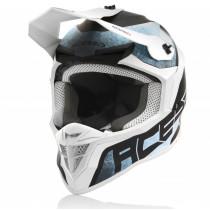 Acerbis Helm Linear weiß-hellblau