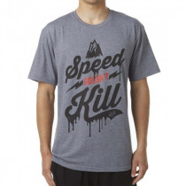 SALE% - FOX T`Shirt Speed Wobble SS Tech Tee grau Gr.XXL