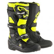 Alpinestars Stiefel Tech7S Youth schwarz-gelb-fluo