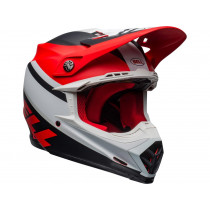 BELL Moto-9 Mips Helm Prophecy Matte White/Red/Black