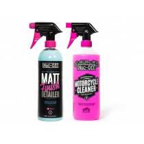 MUC-OFF Twin Pack Moto Cleaner 1L + Matt Finish 750ml