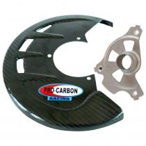 Carbon Bremsscheibenschutz vorne Kawasaki KX450F 19-21 / KX250F 2021