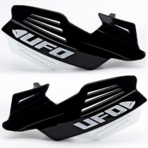 UFO Handprotektoren Kit Vulcan inkl. Anbaukit ALU schwarz-weiß