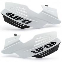 UFO Handprotektoren Kit Vulcan inkl. Anbaukit ALU weiß-schwarz