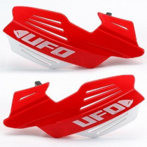 UFO Handprotektoren Kit Vulcan inkl. Anbaukit ALU rot-weiß
