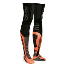 Acerbis Unterziehstrumpf X-Leg Pro schwarz-orange-fluo