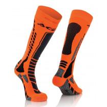 Acerbis Strumpf MX Pro schwarz-orange-fluo