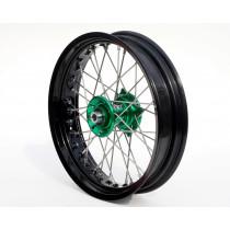 REX Rad 17x3.50 Kawasaki 20MM schwarz-grün
